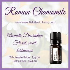 doTERRA Roman Chamomile essential oil is helpful for healthy skin, emotional balance, and the nervous system. Click here for Roman Chamomile uses & tips.
