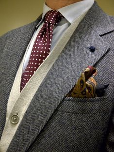Put together with a herringbone jacket