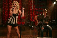 Julianne Hough sings on the set of Studio 330 Sessions