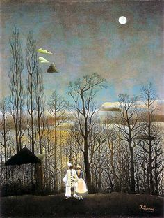 A Carnival Evening 1886 by Henri Rousseau Henri Rousseau, France Art, Philadelphia Museum Of Art, Post Impressionism, Paul Gauguin, Lovers Art, Art Photography, Illustration Art, Artsy