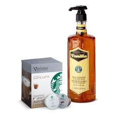 Verismo™ Vanilla Latte Kit  Everything you need to make sweet vanilla lattes at home. Place Vanilla Syrup in the bottom of your cup, brew a Verismo™ Caffè Latte, stir and enjoy. Tasting Notes  Sweet, creamy vanilla. Enjoy this with:  Hearty oatmeal and a brisk walk to work. $22.95 http://websites-buy.com/starbucks-coffee-store