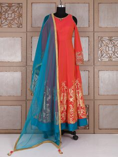 Shop Red silk royal classy anarkali suit online from G3fashion India. Brand - G3, Product code - G3-WSS21669, Price - 7595, Color - Red, Fabric - Silk,