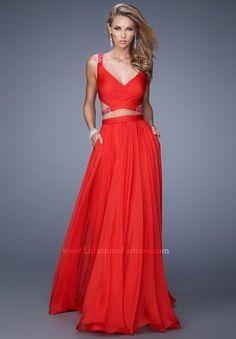 La Femme Sexy Chiffon Dress 21152