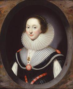Cornelius Johnson (1593 - 1661) ,An Unknown Lady