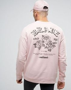 River Island Valiant Rose Sweatshirt In Pink