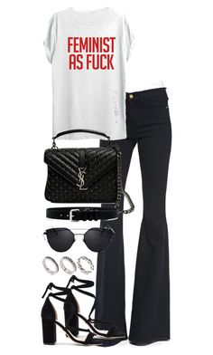 """""""Untitled #3952"""" by theeuropeancloset ❤ liked on Polyvore featuring Frame, TOP-TEE, Raye, Yves Saint Laurent, IRO and ASOS"""