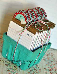 Paper Canteen Creations: My Favorite Things Guest Designer Challenge - Pint Sized Perpetual Journal perpetual calendar Calendar Journal, Journal Cards, Daily Calendar, Filofax, Craft Gifts, Diy Gifts, Berry Baskets, Rolodex, Index Cards