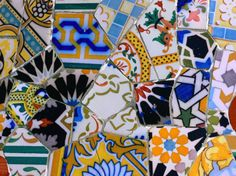 Detail of Tilework by Gaudi at Palau Guell, Barcelona, Catalonia, Spain Photographic Print #EasyNip