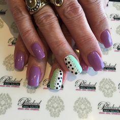 """Fresh Spring Nails! #lavender and #mint with polka dots. #SpringNails  #nailswag #nailart #naildesign #nailsokc #okcnails #yukonsbest #okcBest #okc #nails #bestnailsalon #getpolished #bestManiPedi #BestFacial #polishednailsok #getPamperedAtPolished"" Photo taken by @polishednailsok on Instagram, pinned via the InstaPin iOS App! http://www.instapinapp.com (04/16/2015)"