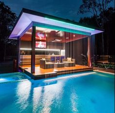 Outdoor Kitchen And Pool Backyard. Home Architecture Design Features Cool Outdoor Living . Home and Family Luxury Pools, Luxury Swimming Pools, Amazing Swimming Pools, Luxury Spa, Luxury Decor, Luxury Interior, Dream Pools, Swimming Pool Designs, Cool Pools
