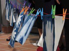 Pinturas artísticas con cianotipia realizadas por personas con demencia