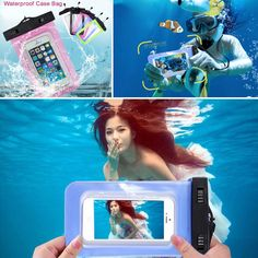 For iPhone 7 6 6s plus 5 5s 4s Samsung galaxy S7 S6 S5 edge plus Sealed Waterproof Underwater Mobile Phone Bag Pouch Case Cover