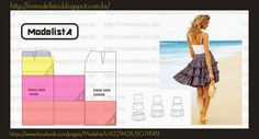 Find a great selection of skirt designs and learn how to design your own skirts for any figure, style, or size. You'll have professionally looking and stylish skirts. Dress Making Patterns, Skirt Patterns Sewing, Clothing Patterns, Pattern Skirt, Skirt Sewing, Pattern Making, Dress Tutorials, Sewing Tutorials, Fashion Sewing