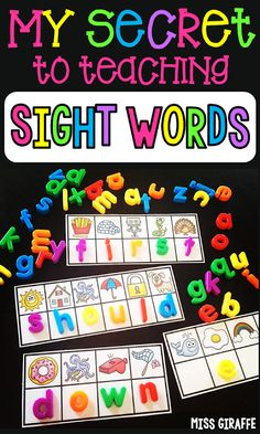 Secret Sight Words Want to know the secret to teaching sight words? Check out these fun sight word activities to see how you can get mastery of your entire word list in fun ways! Learning Sight Words, Sight Word Practice, Sight Word Games, Sight Word Activities, Literacy Activities, Literacy Centers, Sight Words For Preschool, Kindergarten Sight Words, Pre K Sight Words