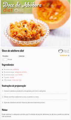 Doce de abóbora diet do Blog da Mimis - delicia de doce levinho e pouco calórico. Festa junina