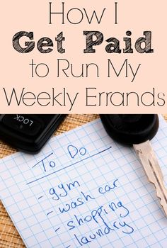 How I Get Paid to Run My Weekly Errands - The Frugal Navy Wife
