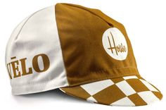 Cycling caps designed by House Industries for the Velo collection.