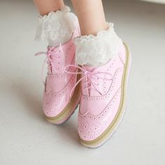 Pink Oxfords Shoes