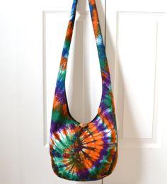 Hobo Bag Tie Dye Swirl Sling Bag Colorful by 2LeftHandz on Etsy, $36.00