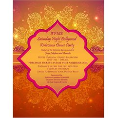 Albuquerque Film and Media Events (AFME) Saturday Night Bollywood Invitation created and designed by Differently Designed custom wedding invitations New Mexico - Differently Designed Invitations and Stationery Albuquerque www.differentlydesigned.com/