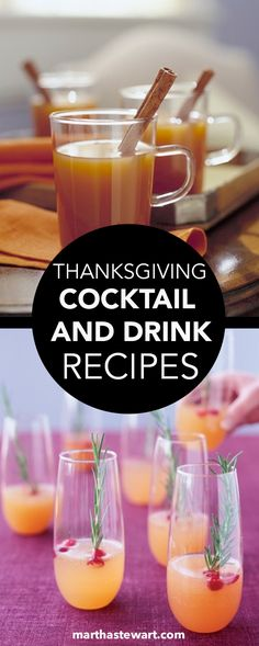 Toast the bounties of the Thanksgiving table with cocktail in hand. There's something for everyone in this collection of festive drink recipes that includes hot ciders, crowd-pleasing sangria, sparkling wine cocktails, and nonalcoholic beverages.