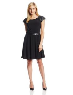 98c7d74c8c NY Collection Women s Petite Cap Sleeve Fit  N Flare Dress