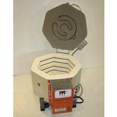 "Model: Jen-Ken AF3P15/9 Inside Dim: 15"" (width) x 9"" (depth) Shelf Size: 13"" Round Shelf Max Temp: Fires to 1700° F (glass) / 2150° F (casting) Voltage: 240"