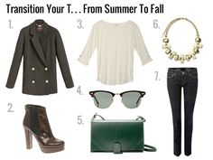 Some awesome ideas on how to make your perfect white tee Fall ready. Just a few polished accessories and you've got the look!