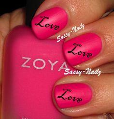 Love Nail Art Transfer Decal by SassyNailzIreland on Etsy, $3.00