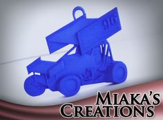 Sprint Car Ornament/Pendant by miaka618