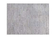 Ripcord Rug - a ripcord rug shown in cream & aluminum <br/> 8 ft 11 in x 12 ft 1 in <b/r> Holly Hunt D.C. , Kyle Bunting
