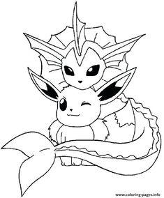 Pokemon Vaporeon Coloring Pages   Pokemon coloring sheets ...