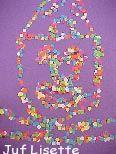 figuren maken met confetti