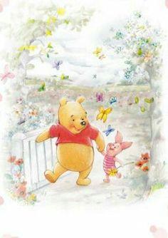 Trendy Wood Walls Paper Nursery Winnie The Pooh Ideas Winnie The Pooh Pictures, Cute Winnie The Pooh, Winne The Pooh, Winnie The Pooh Quotes, Winnie The Pooh Friends, Pooh Bear, Tigger, Eeyore, Piglet Tattoo
