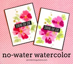 No Water Watercolor Video by Jennifer McGuire Ink