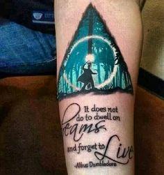 I♥It: Harry Potter Patrono com Reliquias da Morte e frase de Dumbledore