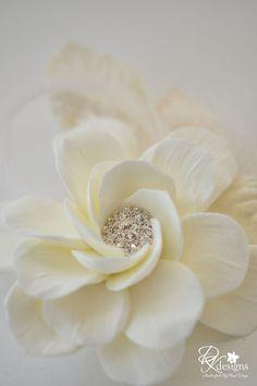 Clay Flower Hair Pins