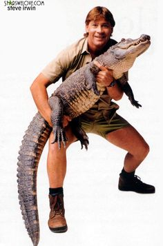 I want to be brave like Steve Irwin (the Crocodile Guy) ... Or at least talk like him ;)