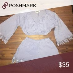 Cute 2 piece set Very cute!! But unfortunately don't like how it fits on me - size too & bottoms XS -- never worn /no tags/ purchased off posh Shorts