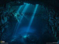 Un plongeur explore un cénote près des ruines mayas, au Mexique - National Geographic France