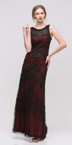 Analisa lace column dress black