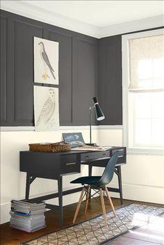Benjamin Moore Iron Mountain paint in our Ethan Allen design center