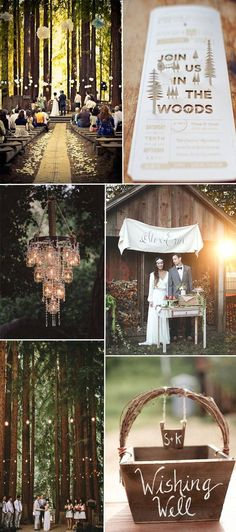 2016 country rustic woodland wedding theme ideas
