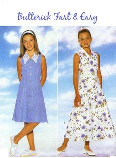 90s GIRLS SUMMER DRESS Sewing Pattern   by KeepsakesStudio on Etsy