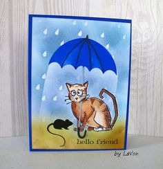 "https://flic.kr/p/EEzR1c | Crazy Cat Friend | This card was inspired by the Tim Holtz ""Crazy Cat"" stamp set. The details are on my blog inboxwhimsy@blogspot.com"