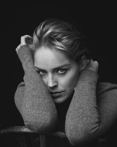 Sharon Stone // By Peter Lindbergh