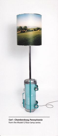 Canister Vacuum Lamp. Ultimate campy kitsch. Love It.
