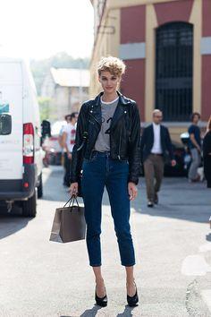 leather + heels