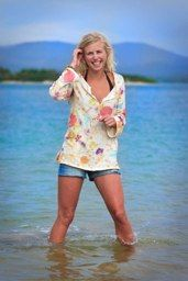 Easy breezy swim coverup! I love the fabric.