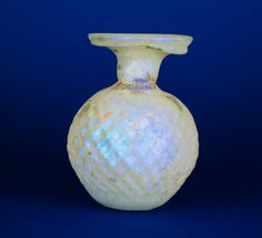 9R Roman Glass Perfume Dropper Flask with Iridescence, Third-fourth Century